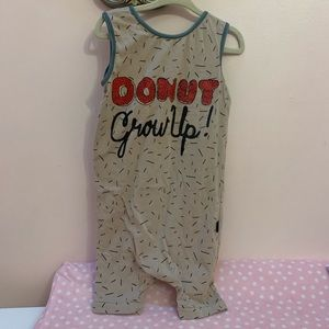 Rags to Raches Donut Grow Up Romper 3-4T